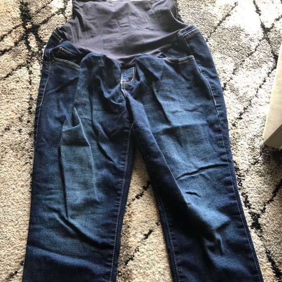 Old Navy Pants - Old Navy Maternity Crop Jeans